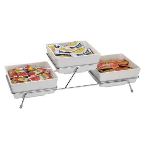 Buffet Stand FLOAT SMALL 55,5x19cm/height15,5cm Metal - 1pc.