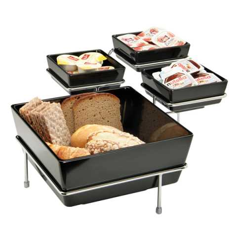 Buffet Stand FLOAT BIG 39x39cm/height17cm Metal - 1pc.