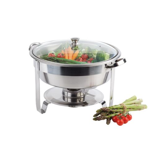 Chafing Dish VEGGIE Ø35cm/height28cm Glass/Stainless Steel - 1pc