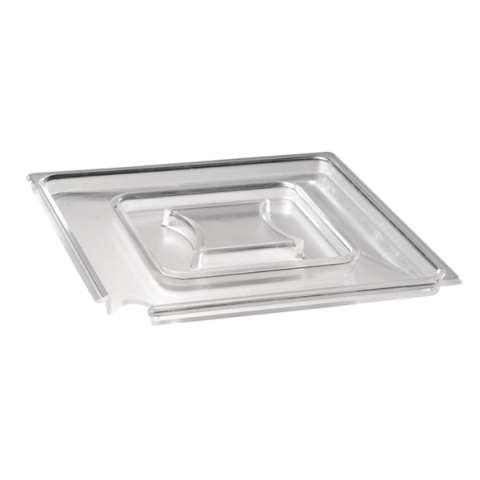 Cover FLOAT 19x19cm/height1,3cm SAN-Plastic transparent - 1pc.