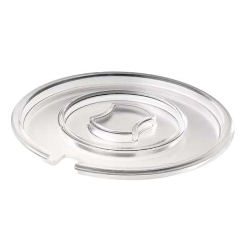 Cover FLOAT Ø20,5cm/height1,3cm SAN-Plastic transparent - 1pc.