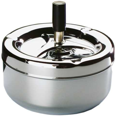 Ashtray CLASSIC Ø13cm/height10,5cm METAL chromed - 1pc.