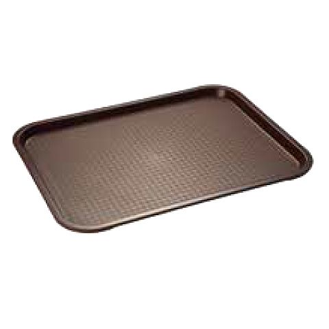 Snack/Fast Food Tray 35x27cm/height2cm brown - 1pc.