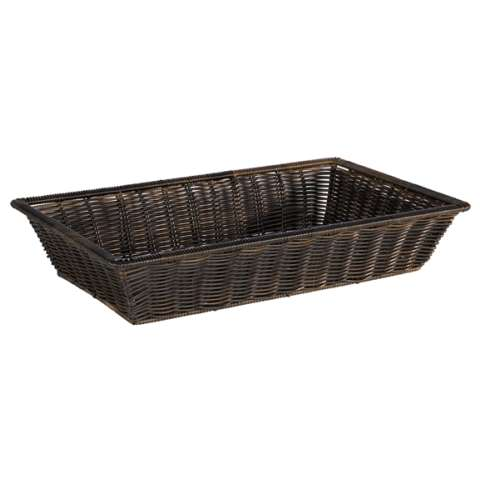 Basket SUPERSTRONG GN1/1 Height10cm PP-Plastic black - 1pc.