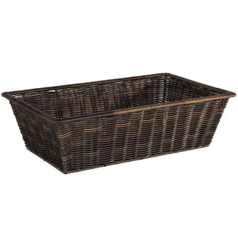 Basket SUPERSTRONG GN1/1 Height15cm PP-Plastic black - 1pc.