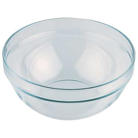 Bowl 2,5ltr. Ø23cm/height10,5cm GLASS - 1pc.