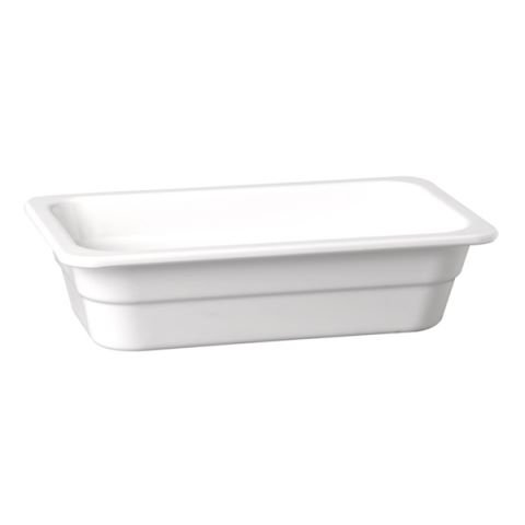 GN2/4 GastroNorm-Container HIGHLINE Height65mm Melamin white 1pc