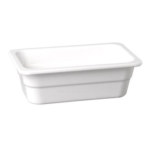 GN1/1 GastroNorm-Container HIGHLINE Height100mm Melamin white 1p