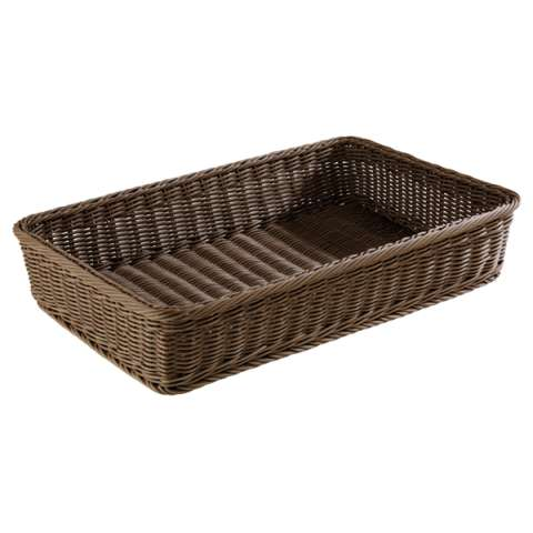 Basket PROFI LINE GN1/1 Height10cm PP-Plastic brown - 1pc.