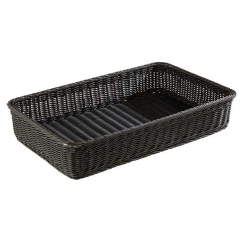 Basket PROFI LINE GN1/1 Height10cm PP-Plastic black - 1pc.