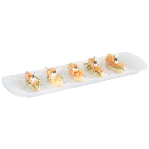 GN Dish/Tray GN2/4 Height2cm Porcelain white - 1pc.