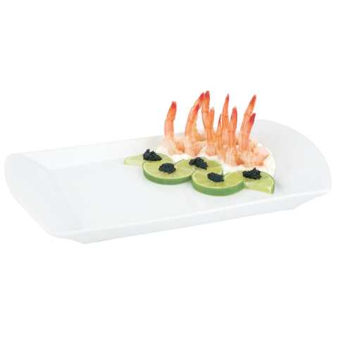 GN Dish/Tray GN1/3 Height2cm Porcelain white - 1pc.
