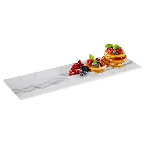GN Tray MARBLE GN2/4 Height1,5cm MELAMIN - 1pc.