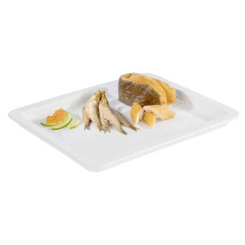 GN Tray GN1/2 Height2,5cm Porcelain white - 1pc.