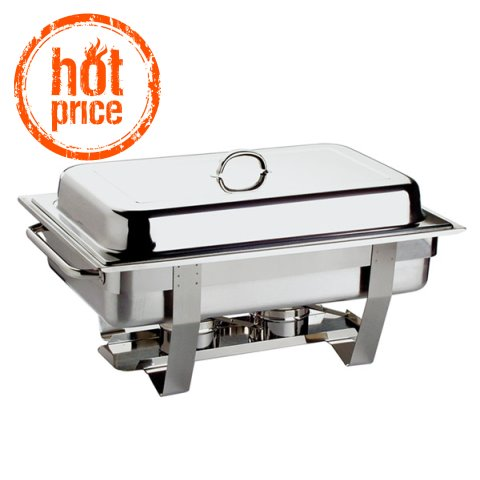 HOT! ChafingDish CHEF 9ltr GN1/1 h30cm STAINLESS STEEL 1pc