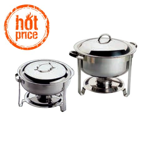 HOT! ChafingDish 7,5ltr. Ø34cm/height34cm STAINLESS STEEL - 1pc.