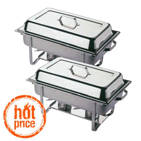 HOT! ChafingDish TWIN 9ltr GN1/1 h30cm STAINLESS STEEL - 2pcs.