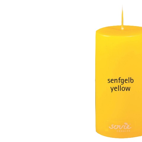 Pillar-Candles Ø5cm/height10cm 28h yellow - 12pcs.