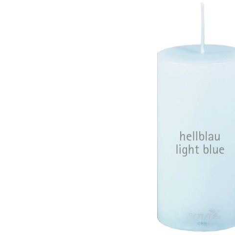 Pillar-Candles Ø5cm/height10cm 28h light blue - 12pcs.