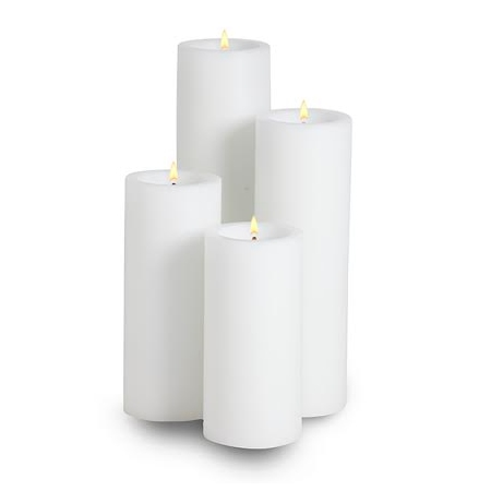 DURATION CANDLE Height17cm High-quality plastic white - 1pc.