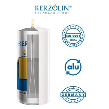 KERZOLIN 03 Candle - BurningTime ~85h Ø5,8cm/h10cm - 48pcs.
