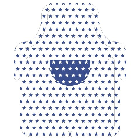 LITTLE COOK Kid Aprons 57cmx68cm AIRLAID blue - 100pcs.