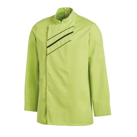 UNISEX Cook Jacket Sizes:42-64 Polyester/Cotton green/black - 1