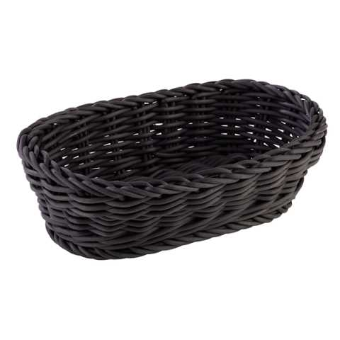 Basket oval PROFI LINE 19x12cm/height6cm PP-Plastic black - 1pc.