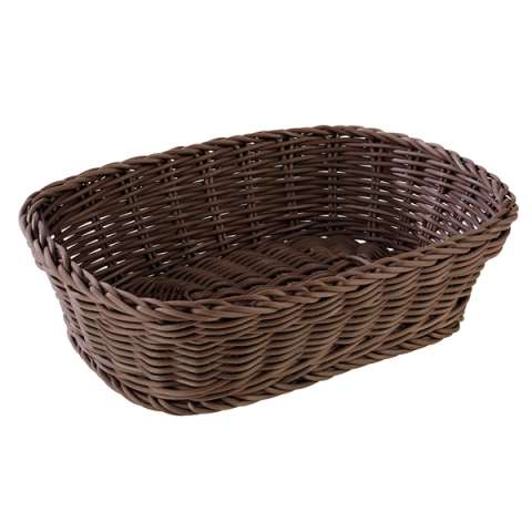 Basket PROFI LINE 26,5x19cm/height7cm PP-Plastic brown - 1pc.