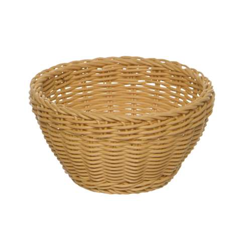 Basket round Ø16cm/height8cm PP-Plastic light beige - 1pc.