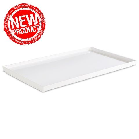 NEW! Tray ASIA+ GN1/1 height3cm MELAMIN white - 1pc.