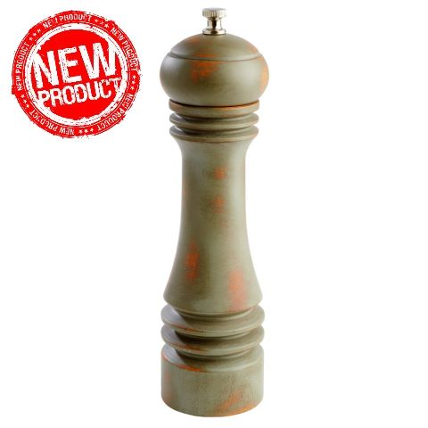 NEW! Pepper Mill Ø6cm/height23cm WOOD vintage green - 1pc.