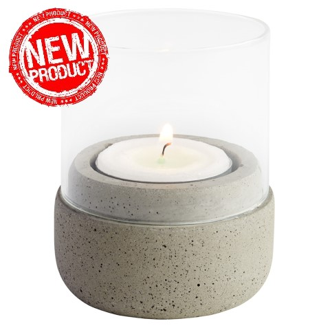 NEW! Wind Lights Ø6cm/height8cm Concrete - 2pcs.