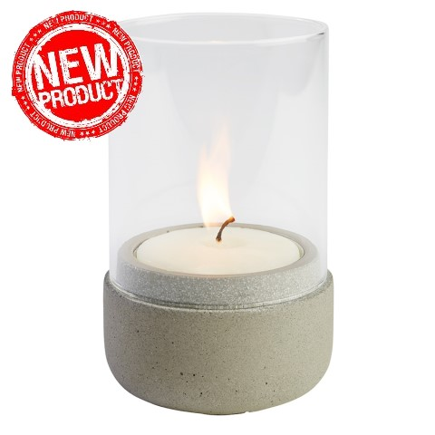 NEW! Wind Light Ø7,5cm/height13cm Concrete - 1pc.