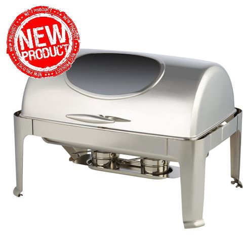 NEW! Chafing Dish WINDOW 9ltr 64x46cm/H44cm Stainless Steel