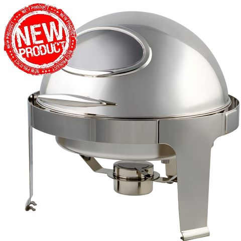 NEW! Chafing Dish WINDOW 6ltr Ø48cm/H46cm StainlessSteel - 1