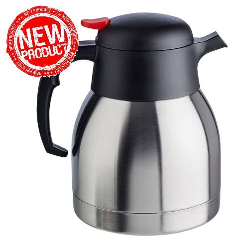NEW! Vacuum Jug 1tr. Ø14cm/Höhe19cm Stainless Steel - 1pc.