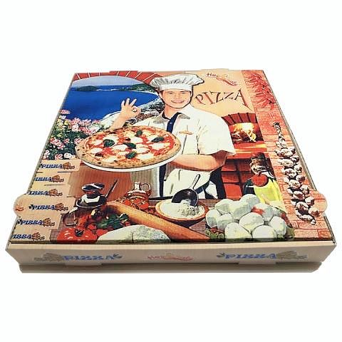Pizza Boxes Francia 40x40cm/height4cm Cardboard - 100pcs.