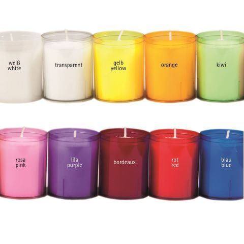 REFILL-Cups Candles BurningTime24h 1x24Tray many Colors - 24pcs.