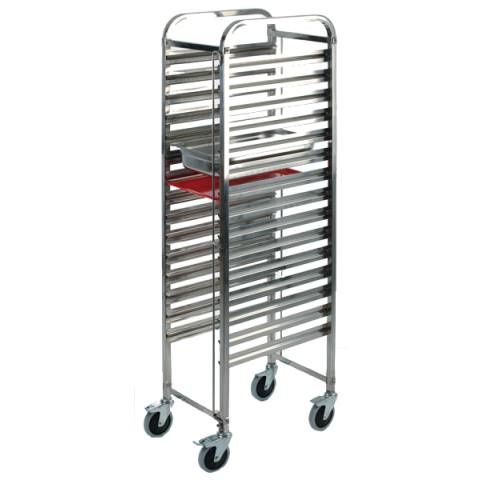 Trolley GN1/1 55x38,5cm/Höhe173,5cm Stainless - 1pc.