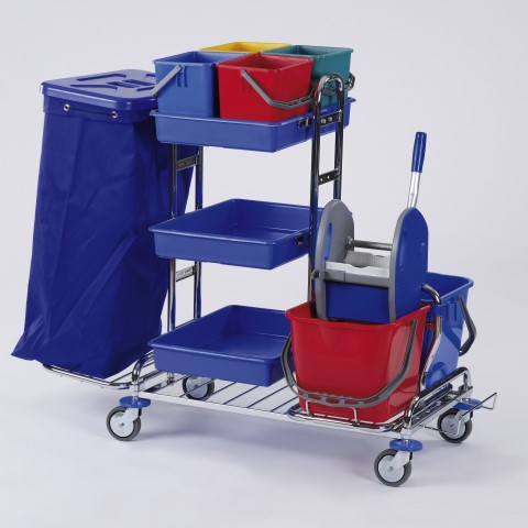 Cleaning Trolley RW1Q 120ltr. 126x69cm/height109cm chrome plated