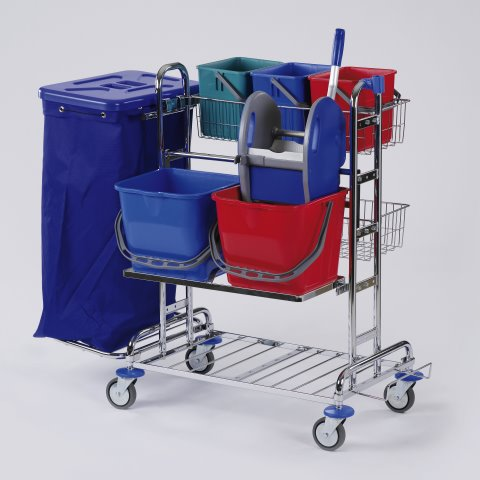 Cleaning Trolley RW2 TOP 120ltr. 116x70cm/height113cm chrome pla
