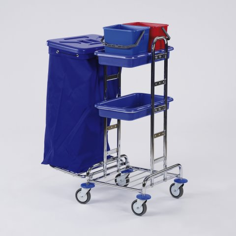 Cleaning Trolley RW4 120ltr. 77x52cm/height110cm chromed- 1pc.