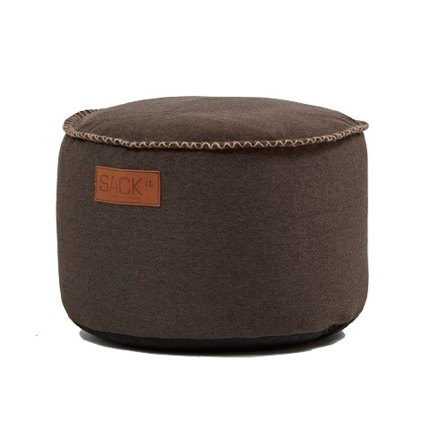 Sack it - RETROit Canvas Pouf Sitzhocker INDOOR braun - 1Stk.