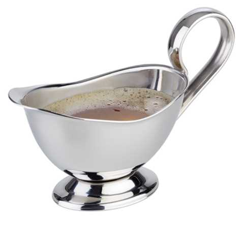 Gravy Boat 13x6cm/height9cm Stainless Steel - 1pc.
