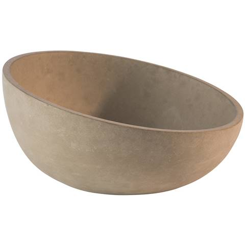 Bowl ELEMENT 1,1ltr. Ø22cm/height6-10,5cm CEMENT - 1pc.