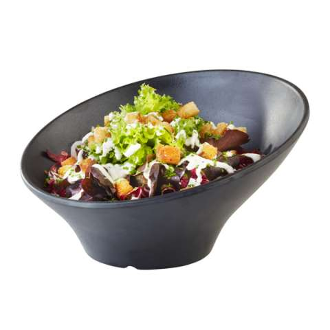 Bowl ZEN Ø22,5cm/height12,5cm MELAMIN black - 1pc.