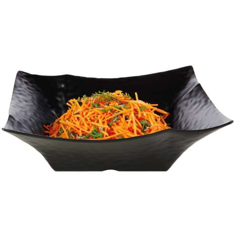 Bowl GLOBAL BUFFET 36x36cm/height11cm MELAMIN black - 1pc.