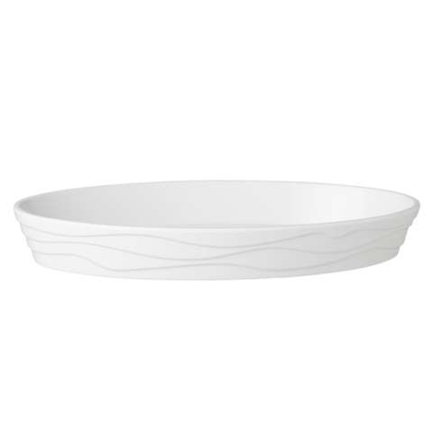Bowl oval CLASSIC WAVE 27x17cm/height4cm MELAMIN white - 1pc.