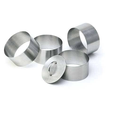 Mousse Ring 5pcs.Set Ø6cm/height4,5cm StainlessSteel - 1pc.